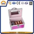 Linda caixa para joias de alumínio com espelho (HB-2045)