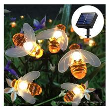 decoration garden light  solar powered led string light  design creative holiday light solar bee string light