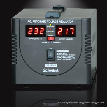 Input 100 to 260V Output 220V 8% 500va 300w Voltage Regulator