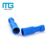Azul latón estaño aislamiento bala hembra desconecta