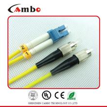 PVC ou LSZH Jacket Cable SC LC Fiber Patch Cable com entrega rápida
