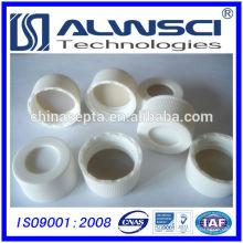 Capa de tampa aberta branca de 24mm Capa de PP Cap HPLC com septa de 3mm