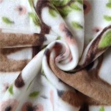 Полярная флисовая ткань с принтом