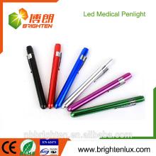 Best-seller OEM High Qualilty Medical Occasion Aluminium Matal CE Rohs Prix bon marché 2 * AA Alimenté par batterie Meilleur torche à stylo médical
