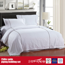 Linge de lit de qualité de linge de luxe d'hôtel de literie de satin de 250TC