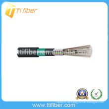Cable de conducto exterior MM 12 Core de un solo modo 62.5um GYTY53 al aire libre cable de fibra óptica
