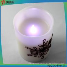 Luz elétrica ao ar livre segura da vela do diodo emissor de luz da mini cor