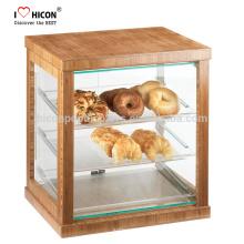 Halten Sie Ihr Essen frisch und sauber Einzelhandel Shop Moderne Glas Acryl Showcase Brot Bäckerei Display Schrank