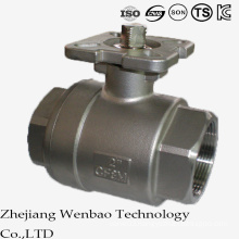 2PC Casting High Platform Floating Ball Valve with Mounting Pad