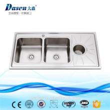 Dasen на продажу 304 1200*600 ванна туалет раковина двойным drainboard кухонная раковина камня раковины для напольного
