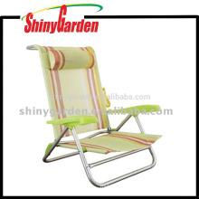 Outdoor Relax Aluminium Chair,Beach Chair With Pillow