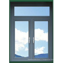Fenêtre à double vitrage latérale ouvrante de fenêtre en aluminium d'alliage d'aluminium