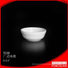 Guangzhou fuentes salsera 3,5 pulgadas china porcelana fina