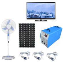 Sistema de energía casera portátil original de la fábrica 100W con los sistemas de TV de los ventiladores de las lámparas del LED