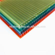 6mm farbige Doppelwandlexan Polycarbonatfolie / Polycarbonat Sonnenkollektor