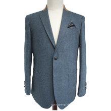 Men′s Tailored Fit Wool Blended Suit Jacket Sport Coat Tweed Blazer