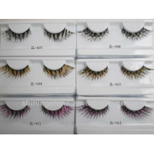 2016 hot design cheap zebra and leopard print false fake fashion eyelashes extension with glue kits