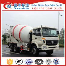 Auman capcity 10m3 caminhão betoneira, dimensão concreta 8cbm caminhão do misturador com caminhão de moda