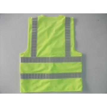 Gilet d'avertissement jaune fluorescent, divers types