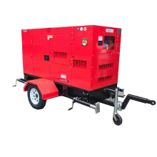 60Hz Single Phase 240v Mobile Trailer Small Diesel Generator 27kva 22kw Powered By Yangdong Engine Y490D Cheap Price For Sales