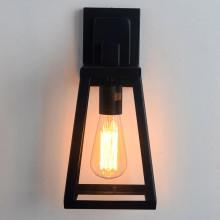Lámpara de pared exterior negra