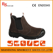 No Lace Brown Safety Shoes RS499