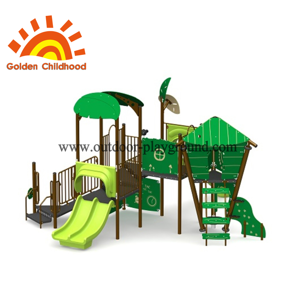 Natural Green Outdoor Playground Equipment