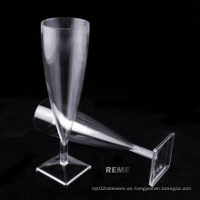 Vajilla Plástico Copa Plato Fondo Champagne Glasse