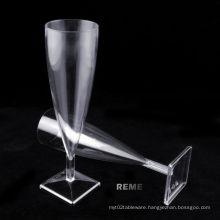 Tableware Plastic Cup Square Bottom Champagne Glasse