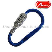 Combination Luggage Lock, Aleación de aluminio Color Design (522)
