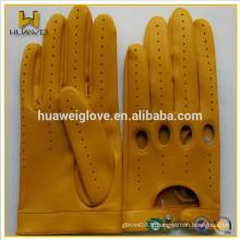Gants de conduite de chèvre Adult Adult Custom Made Leather Driving Gants avec perforation