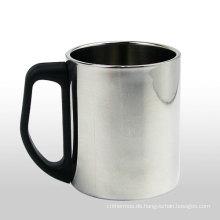 Doppelwandig Edelstahl Espressokaffee Tasse Kaffee-Haferl