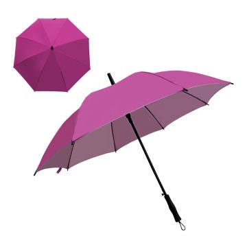 27 Inch Straight Custom Big Size Golf Umbrella with Silver Metal Handle Umbrella