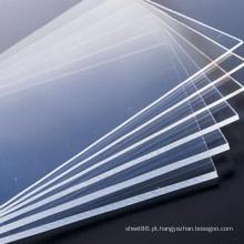 Placa plástica rígida transparente do PVC para construir