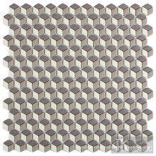 Decorative Rhombus Glass Mosaic Tile Art