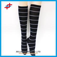 School girl stripe dress sexy stocking,fashion compression stocking,black color tube stocking