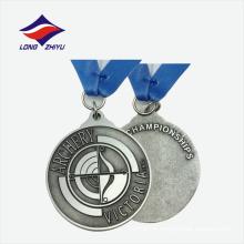 Casting logo medalhas de liga de zinco de qualidade legal feitas na China