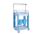 wholesale Hospital trolley ABS medicine cart with infusion hook and five drawers infusion trolley