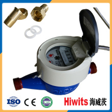 Digital Plastic Water Meter Photoelectric Reading with Brass Water Meter Parts