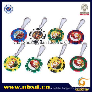 14G 2-Tone Clay Z Stripe Sticker Chip with Key Ring