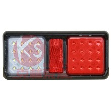 Lampe LED rouge et ambre de remorque d'association