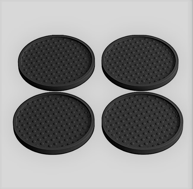 Professional design Logo Round Bar Mat Coaster Professional
