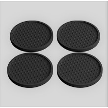 Custom design Logo Round Bar Mat Coaster Professional