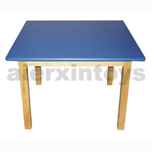 Wooden Squire Table for Kids with Certificate of The En 1729-1 and En 1729-2