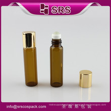srs new product mini aromatherapy glass roll on bottle with steel ball for massage