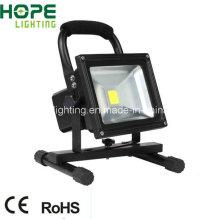 CER RoHS 10W LED Flutlicht mit wiederaufladbaren