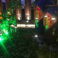 Luz de fibra ótica solar RGB Flower RGB