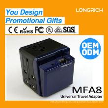 El más innovador universal uk plug usb adaptador