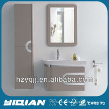Bathroom Furnishings Wall Hanging With Stainless Steel Covered Edges Vanity High Gloss E1 Grade MDF Bathroom Cabinet