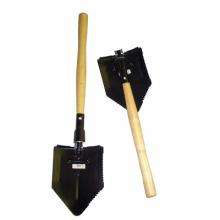Jardinería pala de acero plegable con mango de madera (CL2T-SL301)